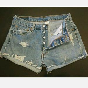 Levi's 501 cut off shorts High rise waist 30 31